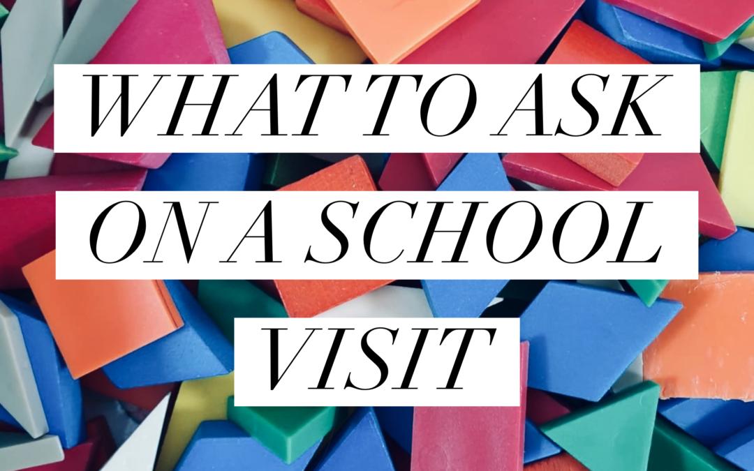 Visiting Schools – head vs heart!
